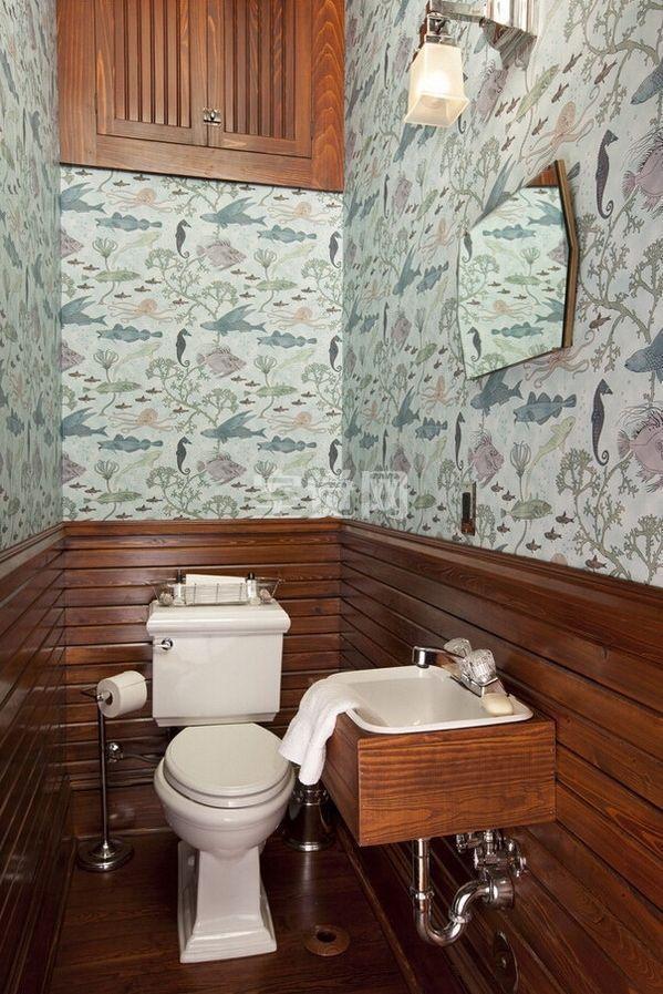 "Foto: Reprodução / <a href=""http://www.houzz.com/photos/771688/Austin-Texas-Residence-traditional-powder-room-other-metro"" target=""_blank"">Houzz</a>"