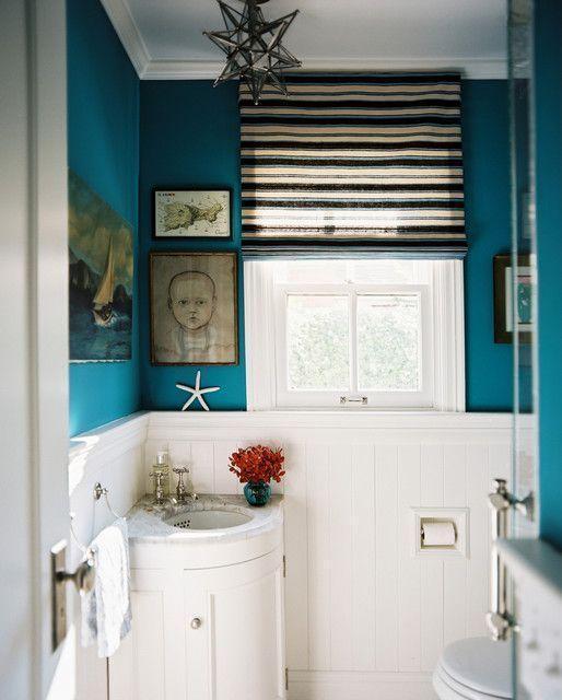 """Foto: Reprodução / <a href=""""http://www.houzz.com/photos/1124209/Vintage-Nouveau-Home-eclectic-powder-room-san-francisco"""" target=""""_blank""""> Houzz </a>"""