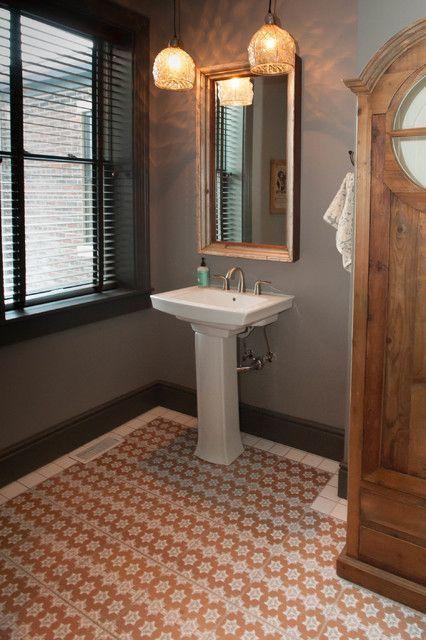 """Foto: Reprodução / <a href=""""http://www.houzz.com/photos/3855991/Inspiring-Urban-Fairy-Tale-eclectic-bathroom-philadelphia"""" target=""""_blank"""">Houzz</a>"""