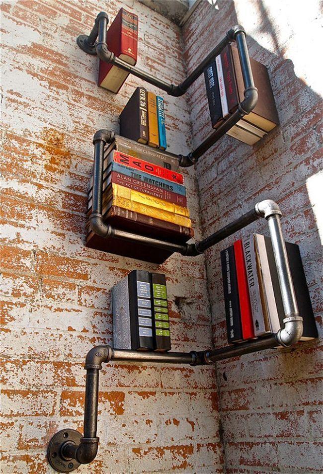 "Foto: Reprodução / <a href=""http://www.homedit.com/top-33-creative-bookshelves-designs/"" target=""_blank"">Homedit</a>"