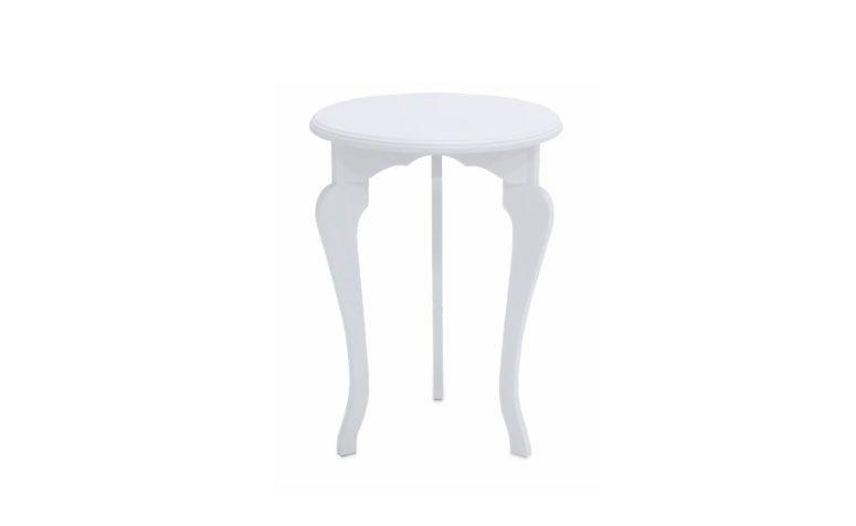 "Mesa redonda Florata por R$ 299,00 na  <a href=""https://www.meumoveldemadeira.com.br/produto/mesa-redonda-tripe-florata-branco-laqueado"" target=""_blank"">Meu móvel de madeira</a>"