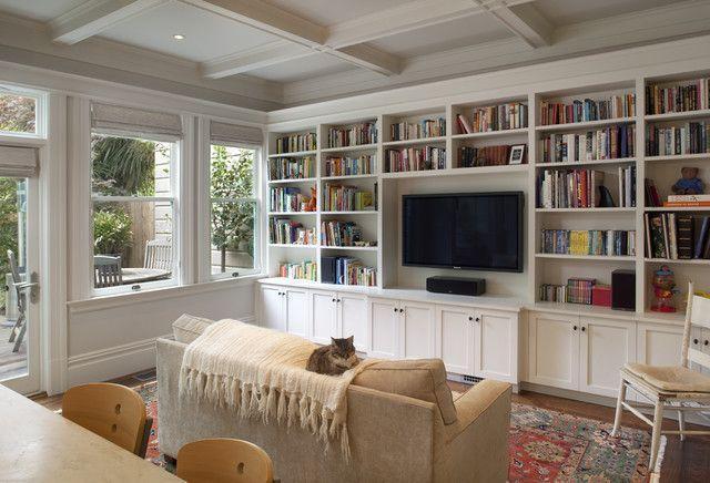 "Foto: Reprodução / <a href=""http://www.houzz.com/photos/367503/Cole-Valley-Residence-Family-Room-traditional-family-room-san-francisco"" target=""_blank"">Houzz</a>"