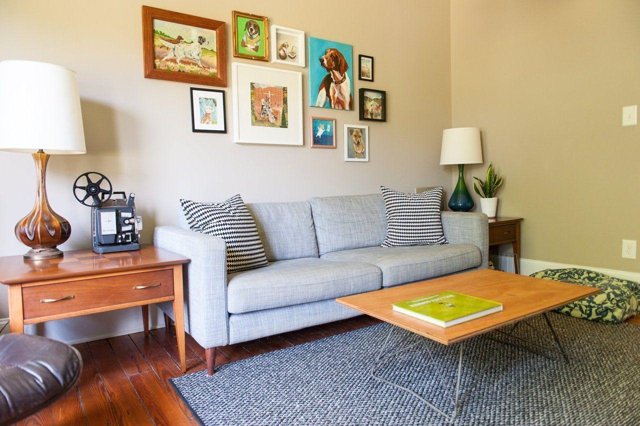 "Foto: Reprodução / <a href=""http://www.apartmenttherapy.com/james-shannas-mid-mod-durham-nc-bungalow-219574# "" target=""_blank"">Apartment Therapy </a>"