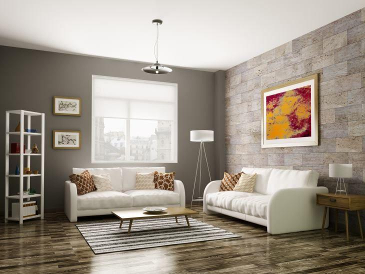 85 salas de estar decoradas para te inspirar for Sala de estar funcional