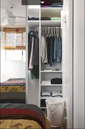 10 dicas essenciais para montar um closet pequeno tua casa for Closets para apartamentos pequenos
