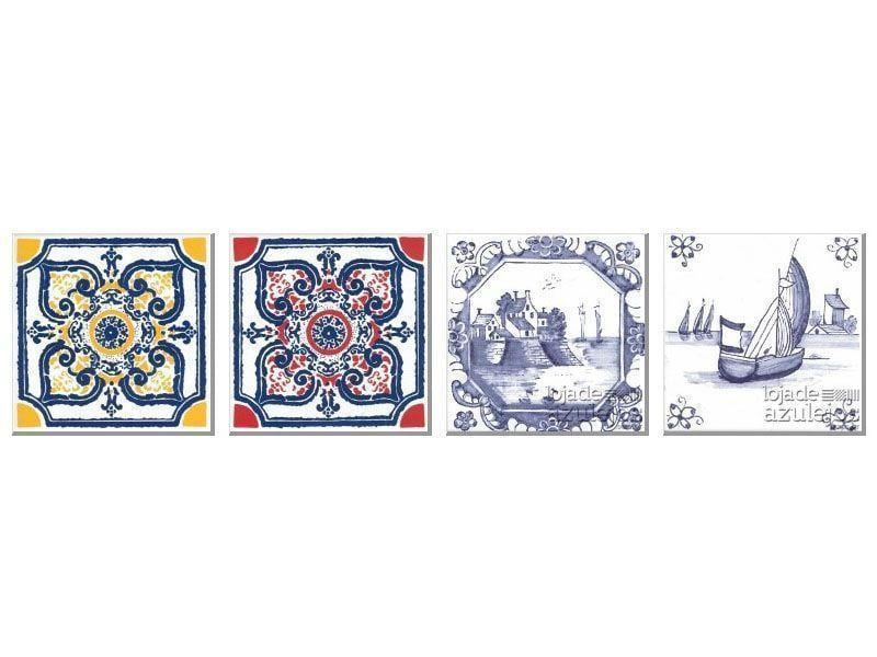"""Azulejo 15.4x15.4cm - Linha Português PORT18 por R$6,10 (unidade) na Loja de Azulejos <a href=""""http://www.lojadeazulejos.com.br/azulejos/azulejos-portugues.html"""" target=""""_blank"""">Loja de Azulejos</a>."""