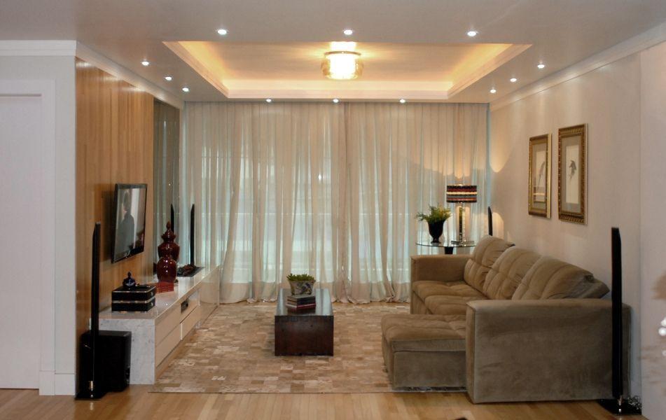 decoracao de sala retangular simples:Salas de estar ou de TV simples