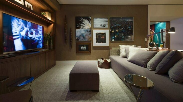 decora o de sala pequena 50 fotos e truques profissionais. Black Bedroom Furniture Sets. Home Design Ideas