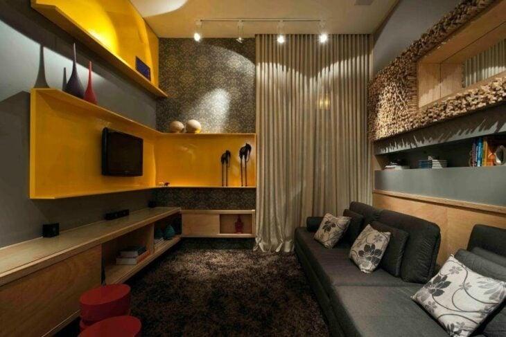 Sala De Tv Moderna E Simples.Decoracao De Sala Pequena 50 Fotos E Truques Profissionais