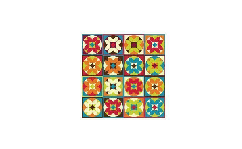 "Adesivo Floral Geométrico 014 por R$ 49,90 na <a href=""https://www.papeldecor.com.br/azulejo/Papel-de-parede-azulejo-floral-geometrico-014 "" target=""_blank"">Papel Decor</a>"