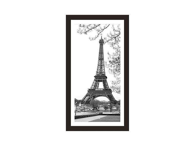 """Quadro emoldurado com estampa da Torre Eiffel por R$49,90 na <a href=""""http://www.leroymerlin.com.br/quadro-eiffel-tower-26x53cm_87868074?"""" target=""""_blank"""">Leroy Merlin</a>"""