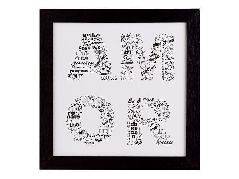 """Quadro emoldurado com a palavra """"amor"""" por R$24,90 na <a href=""""http://www.leroymerlin.com.br/quadro-amor-23x23cm_88150412?"""" target=""""_blank"""">Leroy Merlin</a>"""