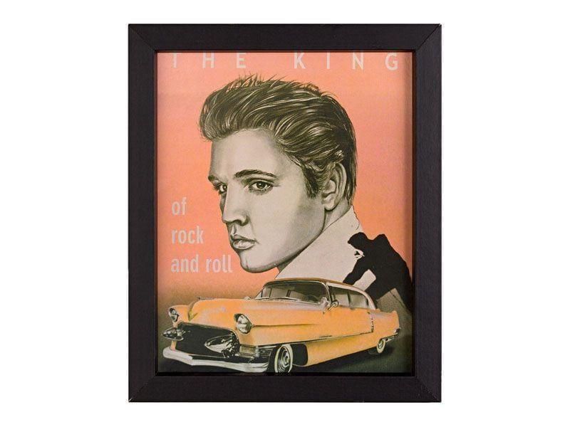 """Quadro emoldurado com a estampa do Elvis Presley por R$26,90 na <a href=""""http://www.leroymerlin.com.br/quadro-red-elvis-20x25cm_88125142?"""" target=""""_blank"""">Leroy Merlin</a>"""