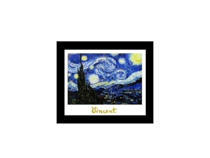 """Quadro emoldurado com reprodução de Van Gogh por R$47,99 na <a href=""""http://www.reidosquadros.com.br/produtos/1076-quadro-pintores-famosos-van-gogh.aspx"""" target=""""_blank"""">Rei dos Quadros</a>"""