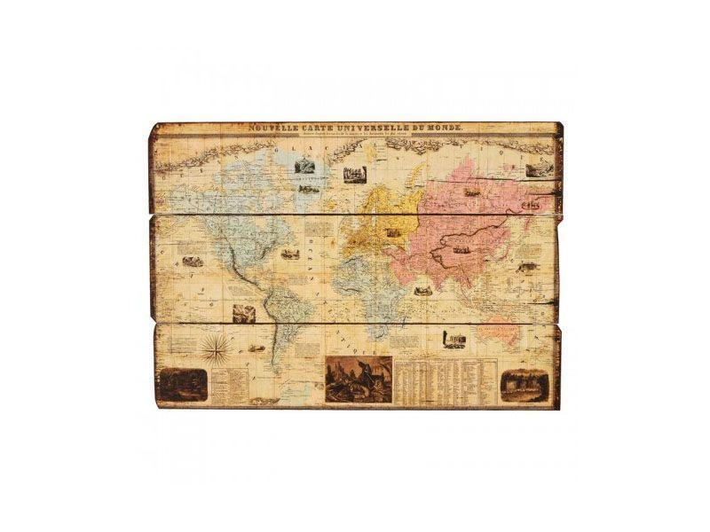 """Quadro de mapa múndi em madeira por R$241 na <a href=""""http://www.mariapiacasa.com.br/quadro-decorativo-vintage-de-parede-atlas-36-013.html"""" target=""""_blank"""">Maria Pia Casa</a>"""