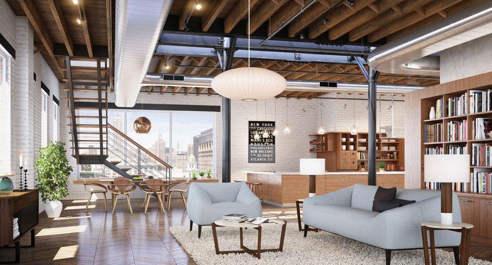 Estilo industrial decora o com ousadia e charme fotos for Casas de estilo industrial
