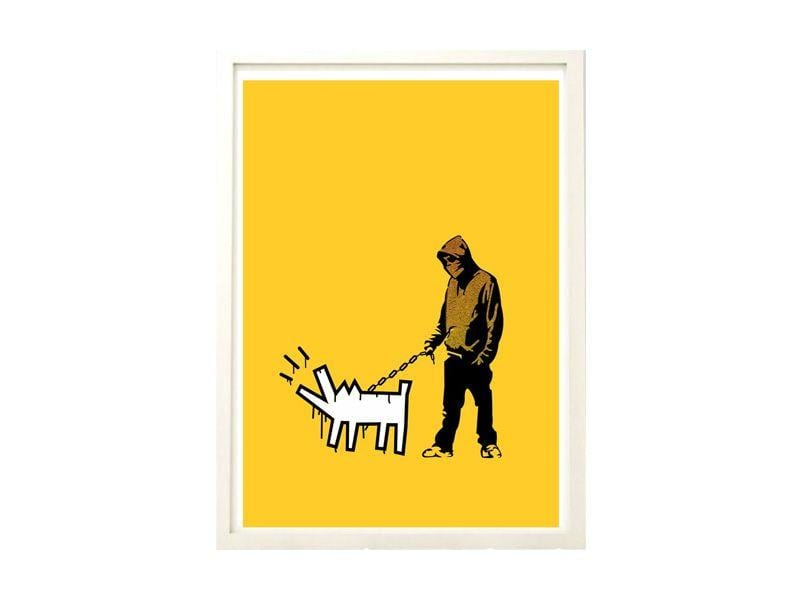 "Poster A4 Banksy Keith Haring Dog por R$159,99 cada na <a href=""`http://www.elo7.com.br/poster-a4-banksy-keith-haring-dog/dp/5094A5"" target=""blank_"">Elo7</a>"