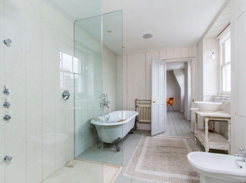 80 banheiros modernos e contemporâneos para inspirar -> Banheiros Projetados Modernos
