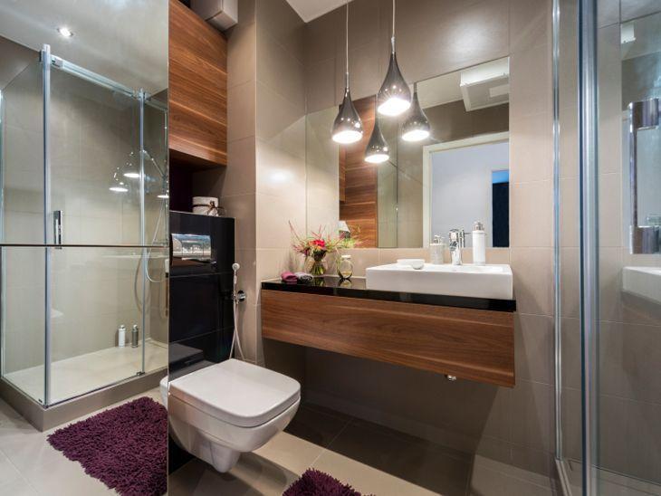 80 banheiros modernos e contemporâneos para inspirar -> Um Banheiro Moderno