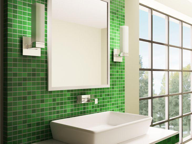 83 banheiros com pastilhas fotos e como aplic -> Banheiro Com Duas Faixas De Pastilha
