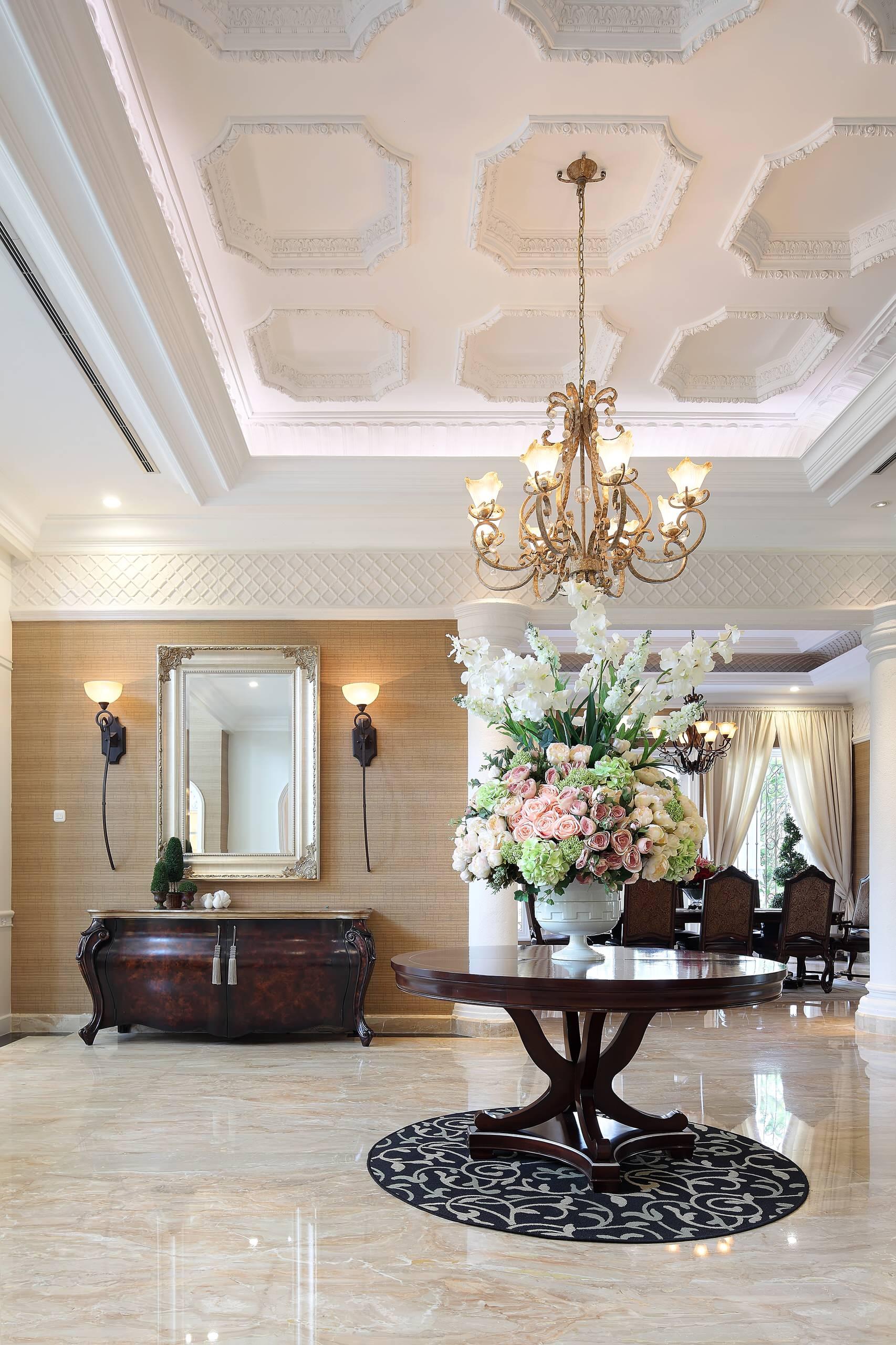 Sanca de gesso 69 modelos para deixar sua casa sofisticada for Foyer ceiling design