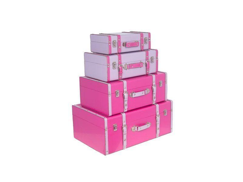 "Conjunto de maletas por R$1.486,40 na <a href=""http://www.trapemix.com.br/maletas-cj-4pcs-pink-roxo-brilho-gd-31164-fullway.html"" target=""blank_"">Trapemix</a>"