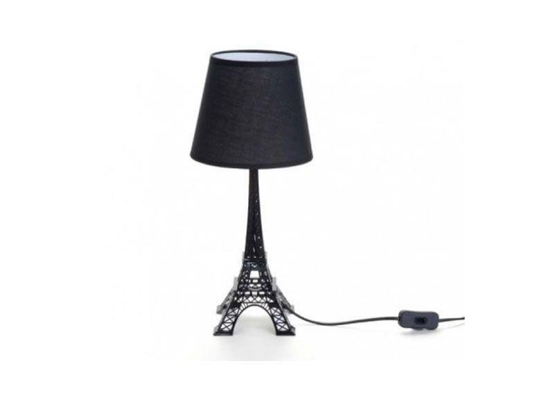 """Luminária Torre Eiffel Preta por R$245 na <a href=""""https://www.popdecor.com.br/quarto/abajur-torre-eiffel-preta.html"""" target=""""blank_"""">Pop Decor</a>"""