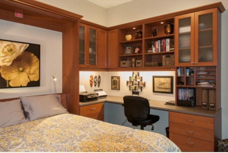 130 quartos de casal modernos, românticos e criativos ~ Quarto Casal Pequeno Com Home Office