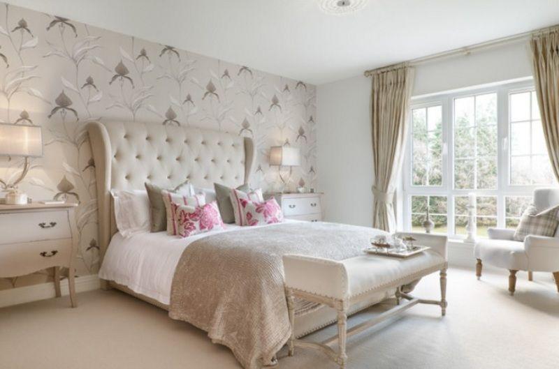 130 quartos de casal modernos rom nticos e criativos - Tapisserie de chambre a coucher ...