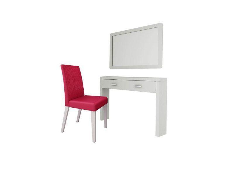 """Conjunto Bella por R$649,39 na <a href=""""http://www.americanas.com.br/produto/11699669/conjunto-bella-penteadeira-espelho-cadeira-branco-rosa-madesa#productdetails"""" target=""""blank_"""">Lojas Americanas</a>"""