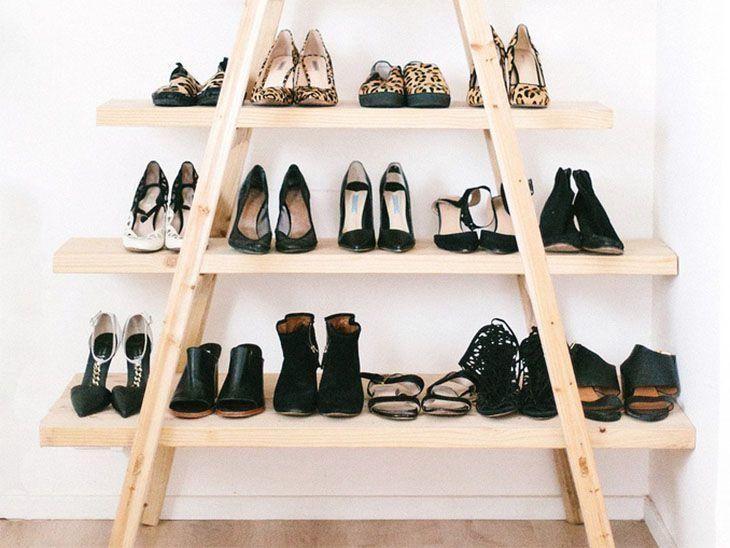 cbc7ea440 Organização de sapatos: 20 ideias práticas para fazer em casa