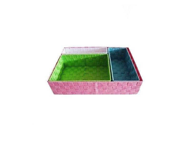 """Set com 4 Cestos Organizadores Colors por R$97,30 na <a href=""""http://www.collector55.com.br/set-com-4-cestos-organizadores-colors/p"""" target=""""blank_"""">Collector55</a>"""