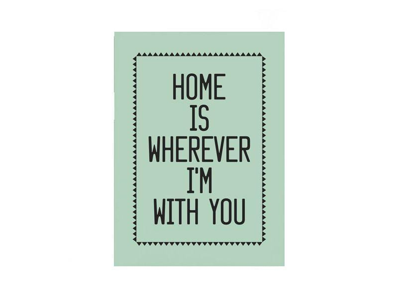 """Poster Home is Wherever por R$40,00 na <a href=""""http://www.collector55.com.br/poster-home-is-wherever/p"""" target=""""blank_"""">Collector55</a>"""