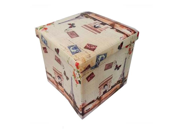 """Puff desmontável por R$ 138,51 na <a href=""""https://www.vintagemania.com.br/produtos.asp?produto=3389"""" target=""""_blank"""">Vintage Mania</a>"""