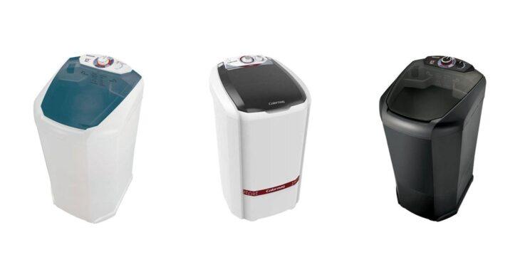 Da esquerda para a direita: Lavamatic por R$447,90 na Casas Bahia; Colormaq por R$489,00 no Extra; Lavamatic por R$439,00 no Ponto Frio | Imagem: Tua Casa