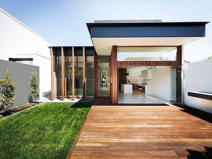 Como construir uma casa pequena com estilo moderno for Interior de casas modernas