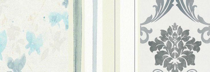 Imagem: Tua Casa - Papel de parede floral / Papel de parede listrado / Papel de parede medalhão