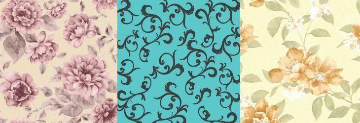 Imagem: Tua Casa - Papel de parede Modelo Dream 05 / Papel de parede Modelo Turquesa 07/ Papel de parede Modelo Dream 02