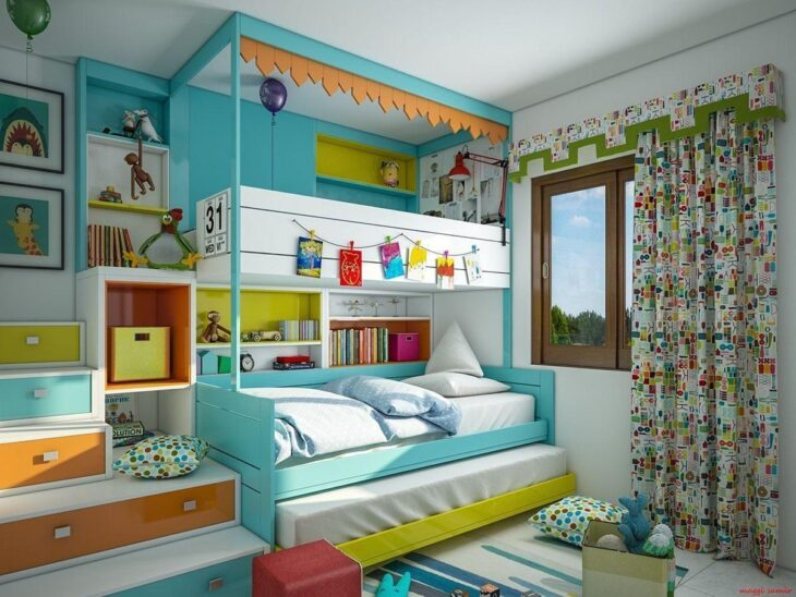 7 Inspiring Kid Room Color Options For Your Little Ones: Beliches Infantis: Modelos Do Tradicional Ao Lúdico