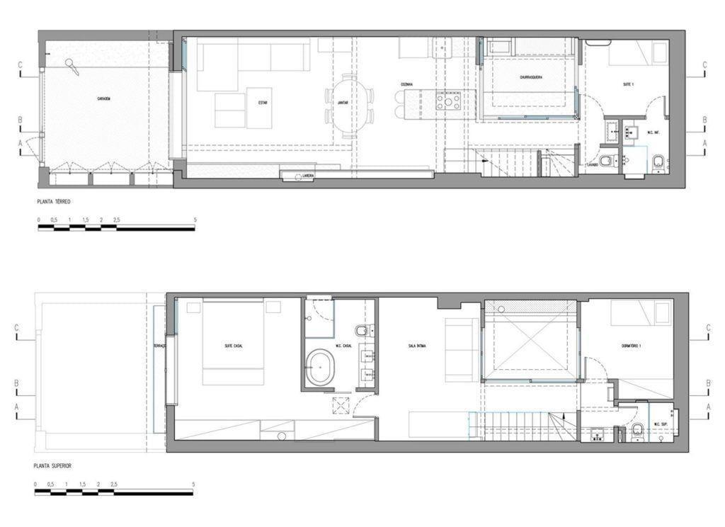 Casa de Vila Itaim, 140m². Foto: Reprodução / DT Estúdio via Archdaily