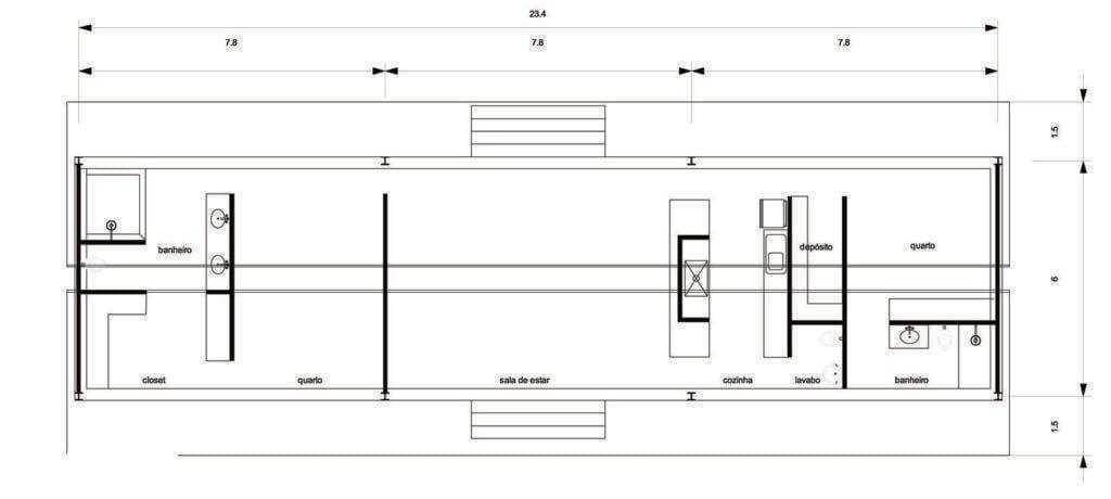 Casa Varanda, 140m². Foto: Reprodução / Carla Juaçaba via Archdaily