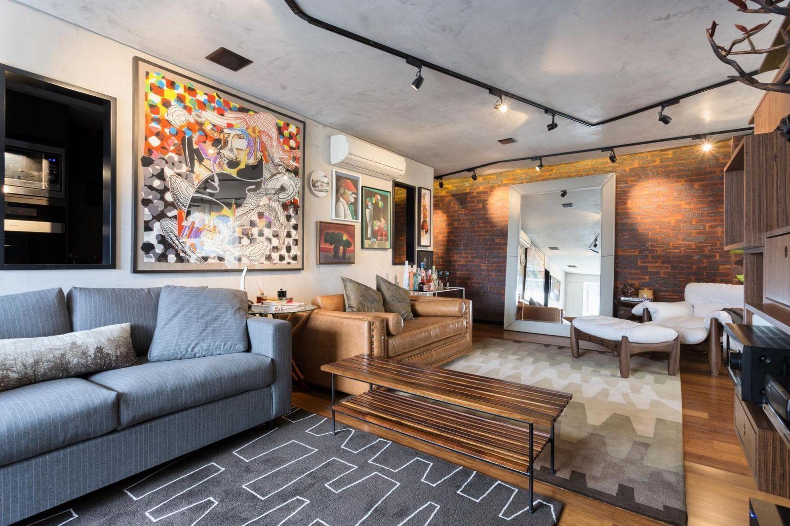 Sala para dois ambientes a melhor forma de ampliar espa os for Sala rustica moderna