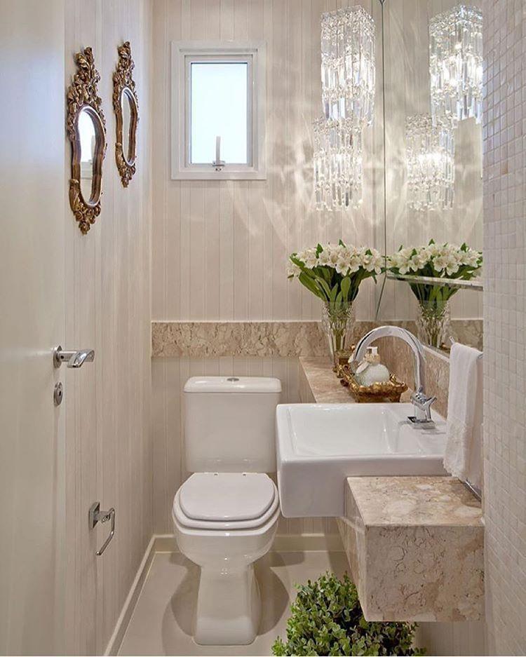 55 banheiros pequenos decorados cheios de estilo for Lavabo pequeno leroy merlin