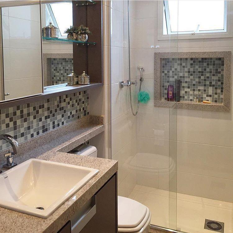55 banheiros pequenos decorados cheios de estilo -> Ampliar Banheiro Pequeno