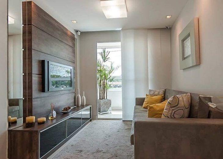 70 ideias de salas pequenas decoradas e lindas para se for Modelos de salas modernas