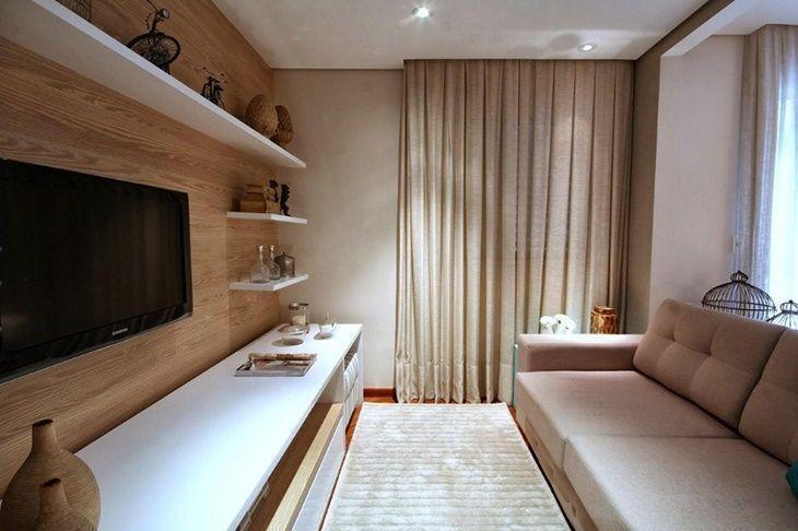 70 ideias de salas pequenas decoradas e lindas para se for Sofas para sala pequena