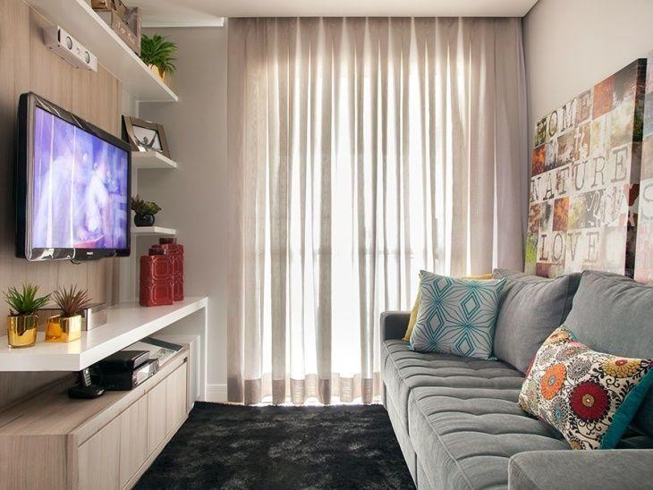 70 ideias de salas pequenas decoradas e lindas para se On salas modernas para casas pequenas