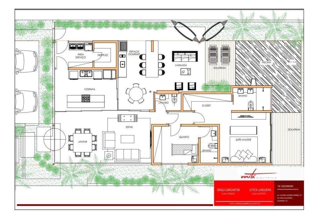 Residência Viafranca, 150m². Foto: Reprodução / Unitá Arquitetura