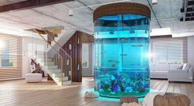 20 projetos de aquários em casas para você se apaixonar