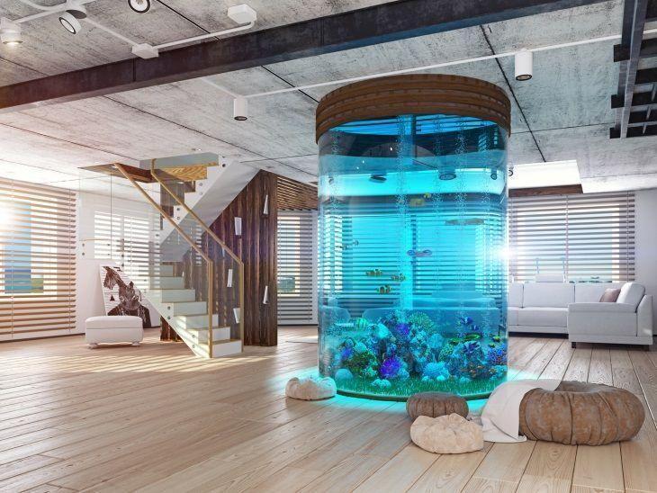 20 projetos de aqu rios em casas para voc se apaixonar - Peceras pequenas decoradas ...